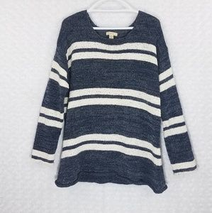 G. H. Bass & Co. Striped Open Knit Sweater